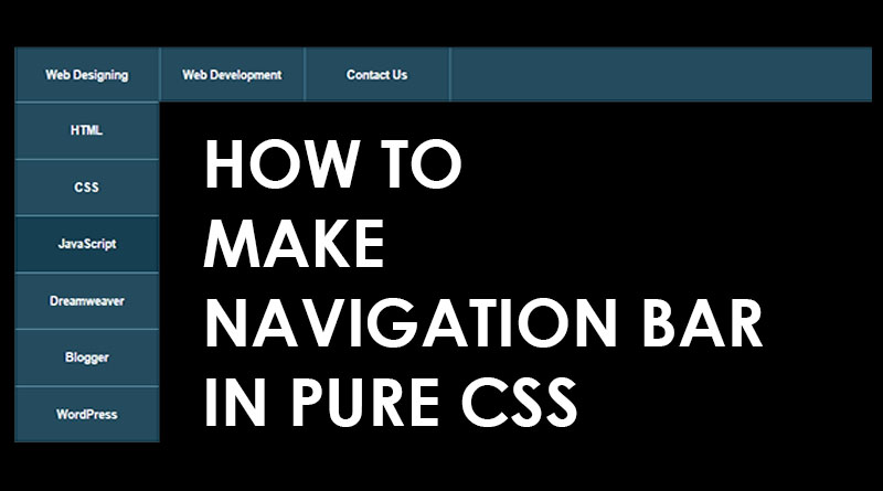 How to make navigation menu in pure CSS