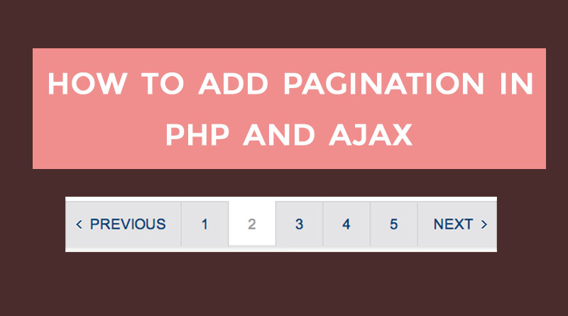 Learn how to add PHP pagination with javascript